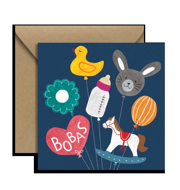 KARTKA BOBAS BALONY