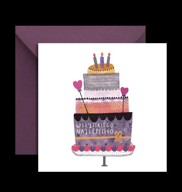 KARTKA URODZINY TORT