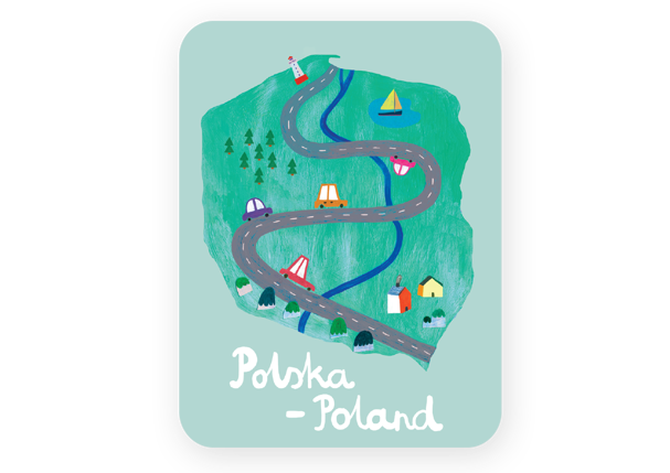 MAGNES POLSKA MAPA